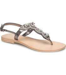 sandal w. big st s shoes summer shoes flat sandals silver sofie schnoor