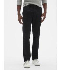 pantalon hombre slim stretch khaki negro gap gap