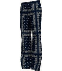 tommy hilfiger women's essential bandana print pant masters navy - m
