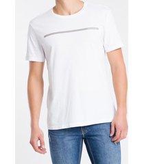 camiseta masculina básica logo linha branca calvin klein jeans - pp