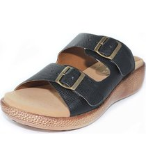 sandalia confort negro burana 965-027
