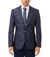 tallia men's slim-fit vibrante paisley dinner jacket