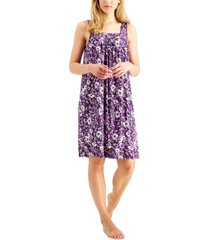 charter club floral-print nightgown, created for macy's