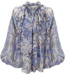 zimmermann botanica drawn swing blouse