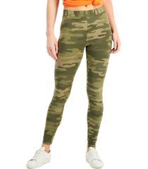 style & co oceana camo-print leggings, created for macy's