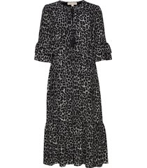 mega cheeta lf drs jurk knielengte zwart michael kors