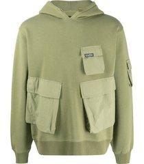 stussy cargo fleece hoodie - green