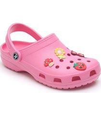 sandalias antideslizantes cómodas para mujer-rosa