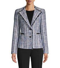 frayed tweed blazer