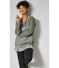 sweatshirt angel of style kaki