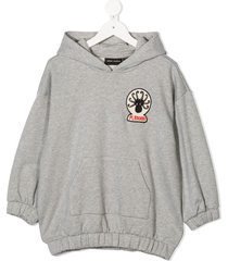 mini rodini octopus patch hoodie - grey