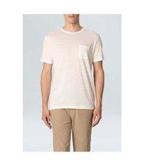 t-shirt osklen rustic pocket e-basics mc ii-offwhitep