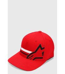 gorra rojo-blanco-negro alpinestars unified