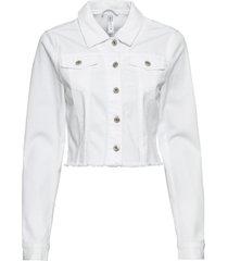 giacca con orlo grezzo (bianco) - rainbow