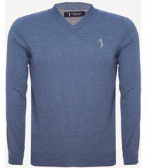 suéter aleatory gola v warm masculino