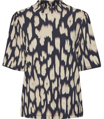 cam blouse animal print