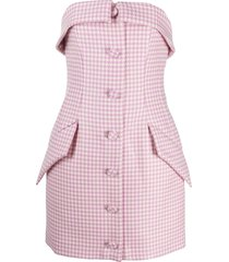 giuseppe di morabito houndstooth tailored mini dress - pink