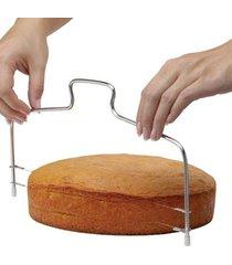 cortador fatiador de bolo com fio duplo regulável keita