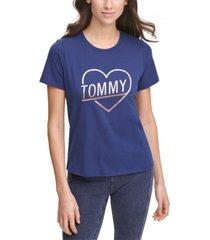 tommy hilfiger sport metallic heart logo t-shirt
