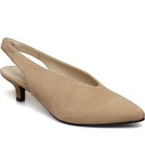minna shoes heels pumps sling backs beige vagabond