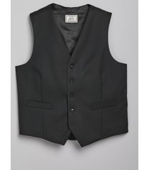 jos. a. bank men's 1905 navy collection tailored fit suit separates vest - big & tall clearance, black, 58 long