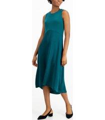 alfani mixed-media midi dress, created for macy's