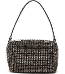 'heiress' medium rhinestone embellished top handle pouch
