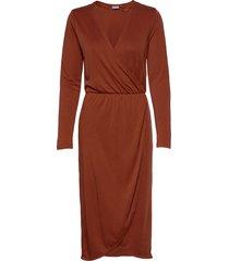 bypomma wrap dress - knälång klänning brun b.young