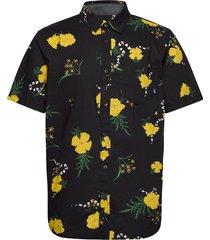 super bloom floral ss kortärmad skjorta svart vans
