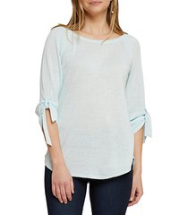 casual friday tie sleeve top