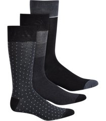 perry ellis 3-pk. men's colorblocked striped socks