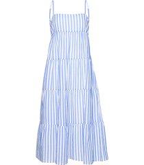 stripe tiered dress beach wear blå seafolly