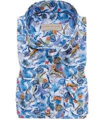 john miller shirt tailored fit blauw jungleprint