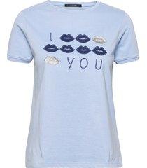 kiss t-shirt top blå missya
