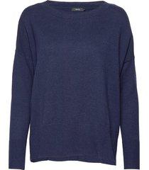 ladies knit sweater, villis gebreide trui blauw nanso