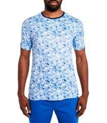 tallia men's slim fit tie dye floral stretch t-shirt