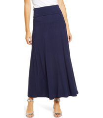 loveappella roll top maxi skirt, size small in navy at nordstrom
