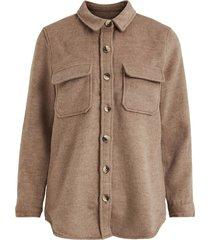 oversize wool blend jacket