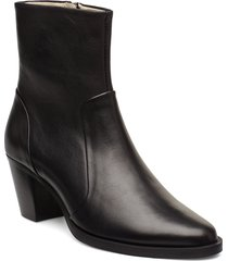 avenue zip boot shoes boots ankle boots ankle boot - heel svart royal republiq