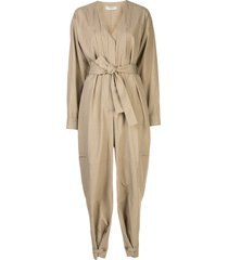 givenchy multi-pocket belted jumpsuit - neutrals