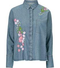 skjorta denim embro blouse