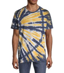 alternative men's heritage tie-dyed t-shirt - red - size l