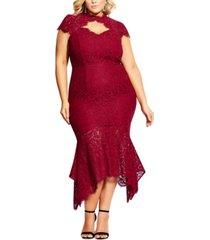 city chic plus size lace mermaid dress