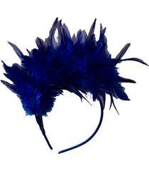 tiara le penas e plumas azul
