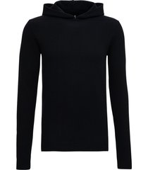 rick owens wool and cashmere black hoodie