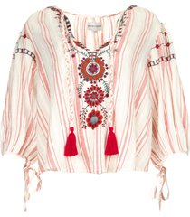 geborduurde blouse camilla  rood