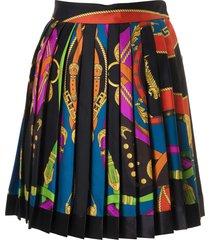 versace pleated printed skirt