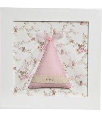 quadro decorativo chapéu de fada potinho de mel rosa