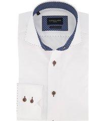 cavallaro shirt wit structuur
