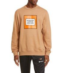 men's burberry logo graphic sweatshirt